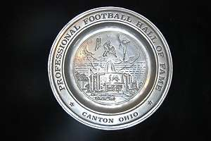 Vintage 1971 Pro Football Hall of Fame Pewter plate