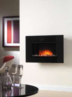 2012 GLASS CURVED ELECTRIC WALL MOUNTED FIRE FLAME EFFECT FIREPLACE