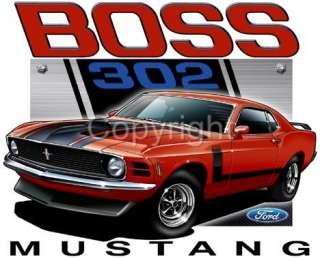 1970 Ford BOSS Mustang 302 Muscle Car Tshirt