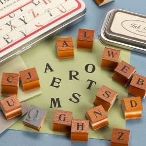 Uppercase Alphabet Rubber Stamps by Cavallini & Co.