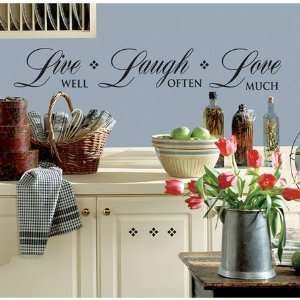 Live Well, Laugh Often, Love Much Wall Decals Everything