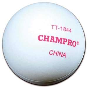 Champro Four Star Seamless Table Tennis Ball 6PK Sports