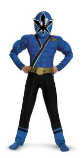 Power Rangers Samurai   Blue Ranger Muscle Child Costume Medium (7/8)