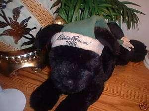 GUND EDDIE BAUER 1999 PLUSH 17 BLACK LAB STUFFED DOG
