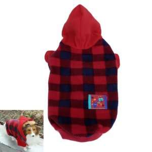 Plaid Pet Dog Autumn Winter Hoodie Coat Clothes Apparel