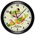 TREE FROG WALL CLOCK KIDS ROOM ART DECOR TOAD BEDROOM