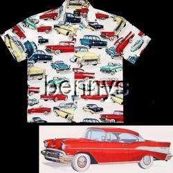 Chevy Bel Air 55 56 57 hawaiian shirt, white, XXL