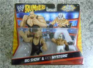 WWE MATTEL RUMBLERS BIG SHOW & REY MYSTERIO 2 PACK ACTION FIGURE TOY