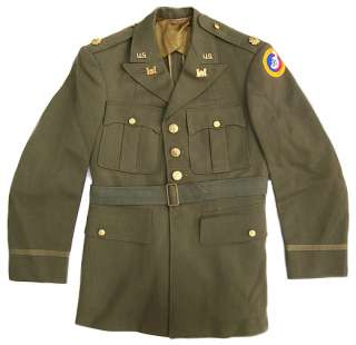 WWII US Army Officers Tunic 3rd Army Engineer
