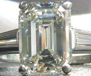 28,000 2.48CT EMERALD CUT DIAMOND RING █ CLASSIC SET & A+
