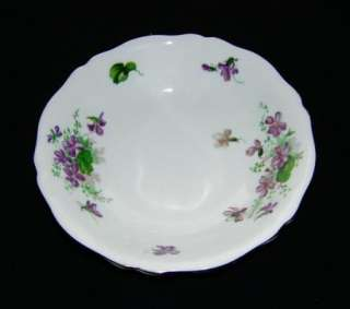 Vintage Royal Adderley Floral Bowl w/ Violets Fine Bone China England
