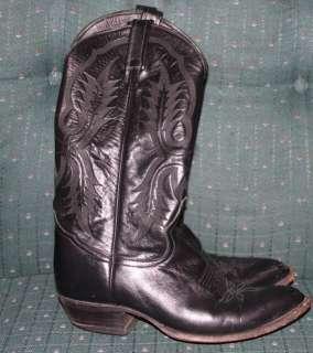TONY LAMA MENS COWBOY WESTERN BLACK LONGHORN BOOTS 8.5 STYLE 2923