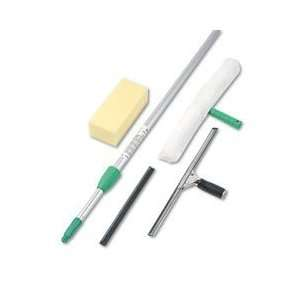Unger Pro Window Cleaning Kit with 8 Foot Pole, Scrubber
