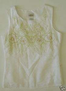 Used Sherry Taylor Womens Shirt White Sz Small