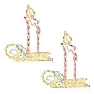 18 Candle Window Decor 50 Multi Color Lights 2 Pack