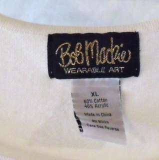 BOB MACKIE WEARABLE ART size 1X XL 3 piece set Cardigan Tank Pants