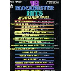 18 Blockbuster Hits Easy Piano Dan Coates Books