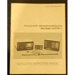 ACU RITE MINI Scale Digital Readout DRO Manual Acu Rite