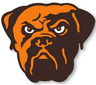 CLEVELAND BROWNS   NFL Logo wall,window,sticker,decal