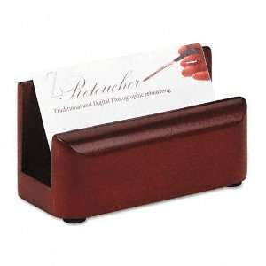 Rolodex   Wood Tones Business Card Holder, Capacity 50 2 1/4 x 4 Cards