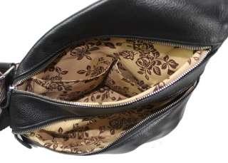 Mens Ladys Real Cowhide Leather Shoulder Bag Sling Bag Chest