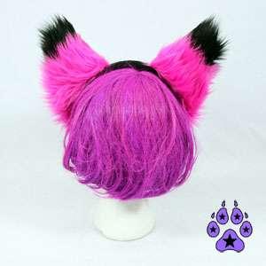 FOXY cat cosplay Kitty Anime HEADBAND Hat EARS kitsune
