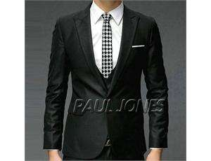 Men's Fashion Stylish Slim Fit One Button Suit 3pcs CL1186