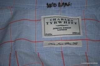 CHARLES TYRWHITT DRESS SHIRT LONG SLEEVES SZ 15.5 #343
