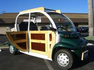 Woody 2002 green 4 passenger seat CHRYSLER GEM E825 ELECTRIC Golf Cart