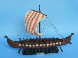 Drakkar Viking 14 Model Ship Scale Replica Wooden