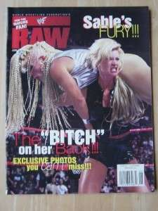 WWF Raw female wrestling magazine/Sable 6 98