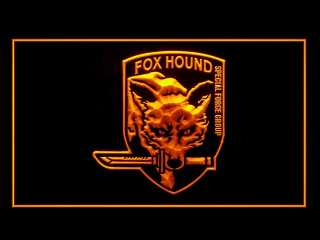 J620Y LED Sign Metal Gear Solid Fox Wolf Bar Pub Light