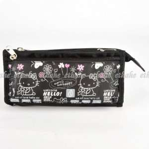 Hello Kitty Pencil Case Cosmetic Hand Bag Purse Beauty