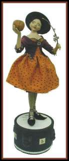BEAUTIFUL 1940S STYLE HALLOWEEN WITCH DOLL PATTERN~MAGICAL!