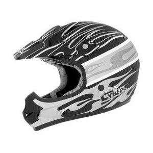 Helmets Visor for UX 31C Helmet, Flat Black/White/Silver Blaze 640177