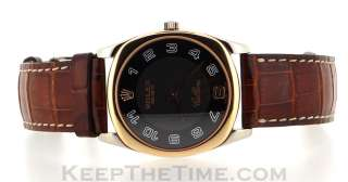 Rolex Geneve Cellini Danaos 4233 18K White/Rose Gold Mechanical Watch