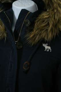 NWT $160 Abercrombie & Fitch women Kira Faux fur Hoodie Sweatshirt