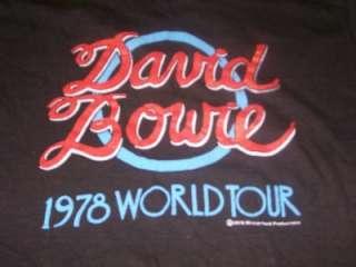 vintage DAVID BOWIE 1978 Winterland Tour t shirt S wow!