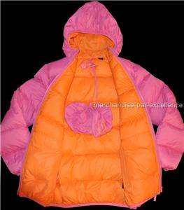 Large 10 12 Girls Winter TRIPLE STAR Packable Jacket Coat HOODED Down