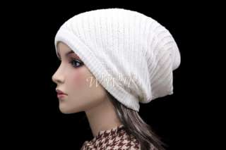 STYLISH REVERSE KNIT BEANIE HAT WINTER CAP be309w