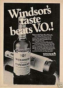 1982 WINDSOR CANADIAN WHISKY ORIGINAL VINTAGE AD