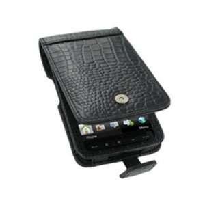 Phone Protector Case Black Crocodile Pattern Leather Flip