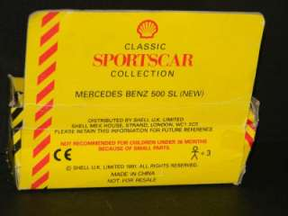 1991 SHELL CLASSIC CAR COLLECTION MERCEDES BENZ 500 SL!