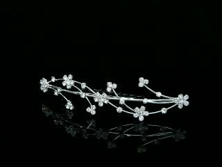 Bridal Rhinestone Crystal Wedding Tiara Hair Comb 5043