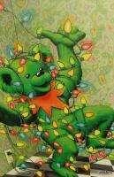 LOT OF 8 GRATEFUL DEAD BEAR XMAS CARDS greatful art 1996 Jerry Garcia