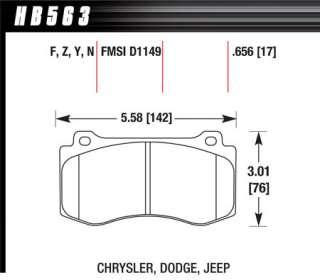 HPS Front Performance Brake Pads HB563F.656