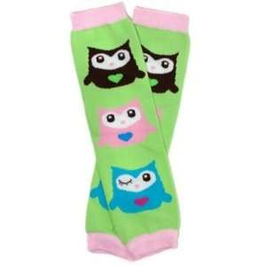 OWL GREEN Baby Leggings/Leggies/Leg Warmers for Cloth Diapers   GIRLS
