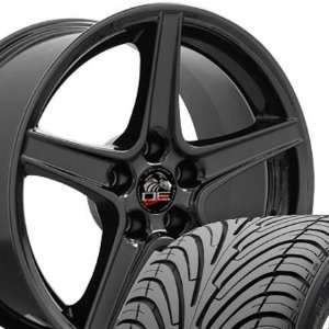18 Fits Mustang (R) Saleen Style Wheels tires   Black