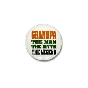 Grandpa   The Legend Funny Mini Button by CafePress: Patio