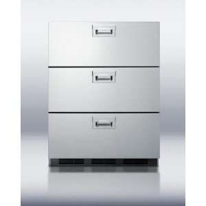 Summit Stainless Steel Drawers Built In Refrigerator